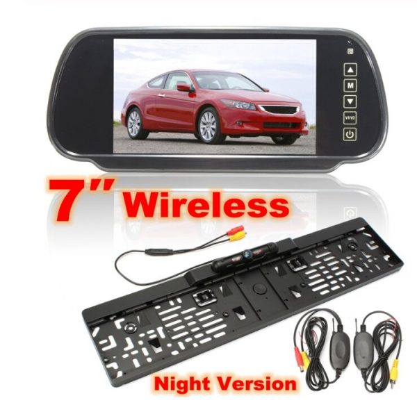 Wireless Reverse Night Vision Camera with Mirror Monitor