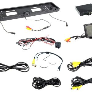 "Connects2 CAM-KIT8 2 Parking Sensors & Camera Number plate + 4.3"" Colour Monitor"