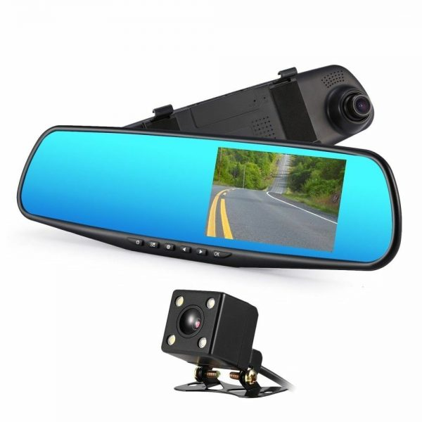 CONNECTS2 Universal Dash Cam Reverse Camera Kit With Replacement Rear View Mirror