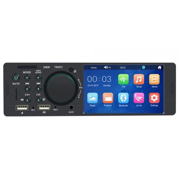 Single Din Touchscreen Radio Reverse Camera