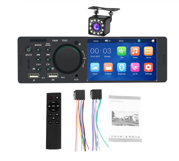 Touch Screen Car Radio with Rear View Camera