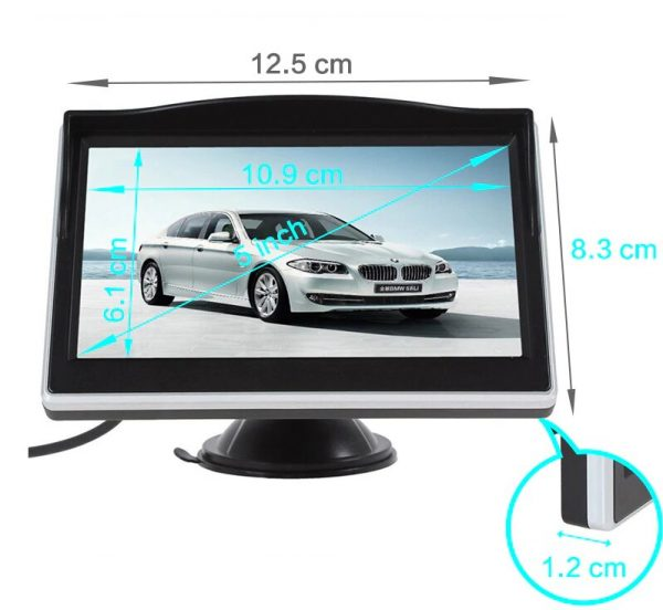 Vehicle Monitor 5inch RCA AV (1)