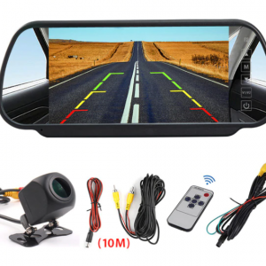 7inch Car Mirror monitor with reversing camera (1)